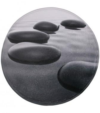 Badteppich rund Black Stones Ø 80 cm