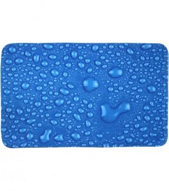 Badteppich Tautropfen Blau 50 x 80 cm