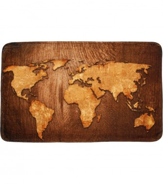 Badteppich World Map 70 x 110 cm