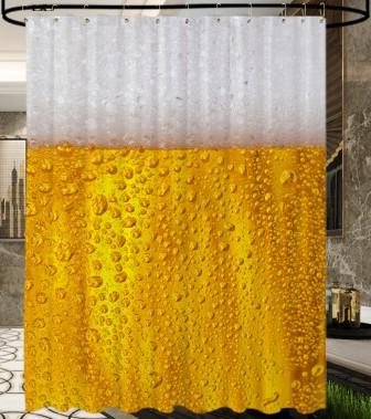 Duschvorhang Bier 180 x 200 cm