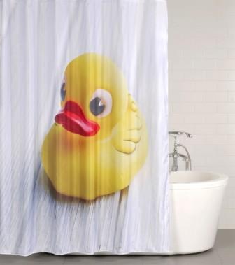 Duschvorhang Ente 180 x 200 cm