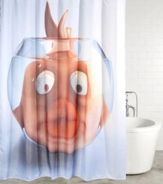 Duschvorhang Goldfisch 180 x 200 cm