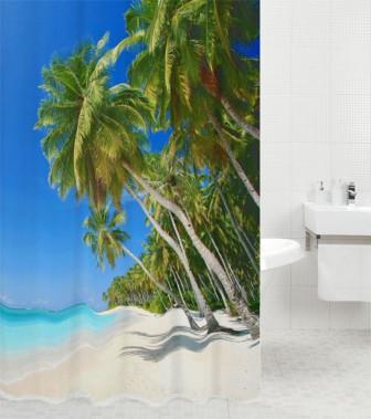 Duschvorhang Karibik 180 x 180 cm