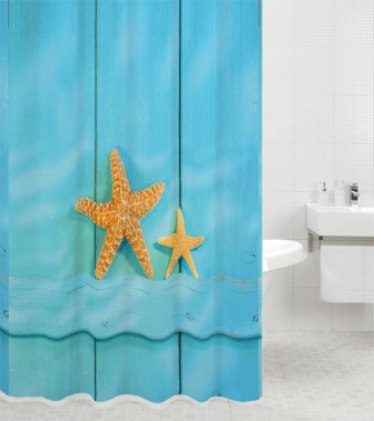 Duschvorhang Starfish 180 x 180 cm