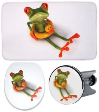 3-teiliges Badezimmer Set Froggy