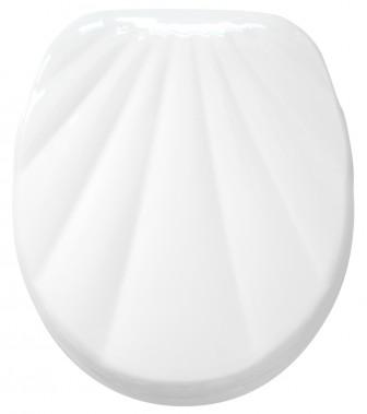 WC-Sitz mit Absenkautomatik Muschel Weiß