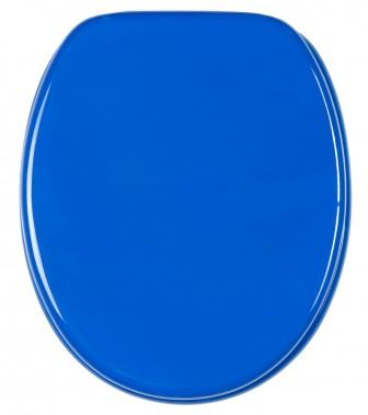 WC-Sitz mit Absenkautomatik Blau