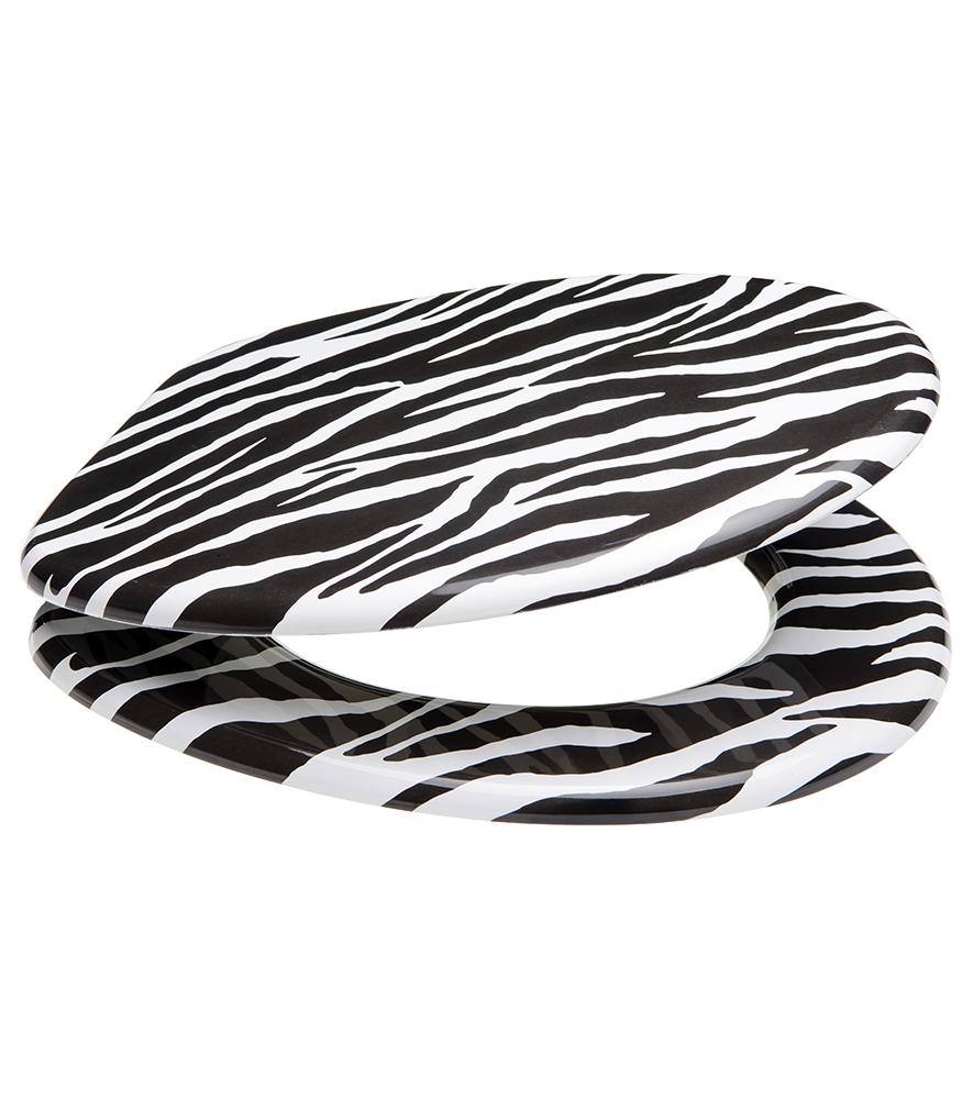 wc sitz mit absenkautomatik zebra. Black Bedroom Furniture Sets. Home Design Ideas