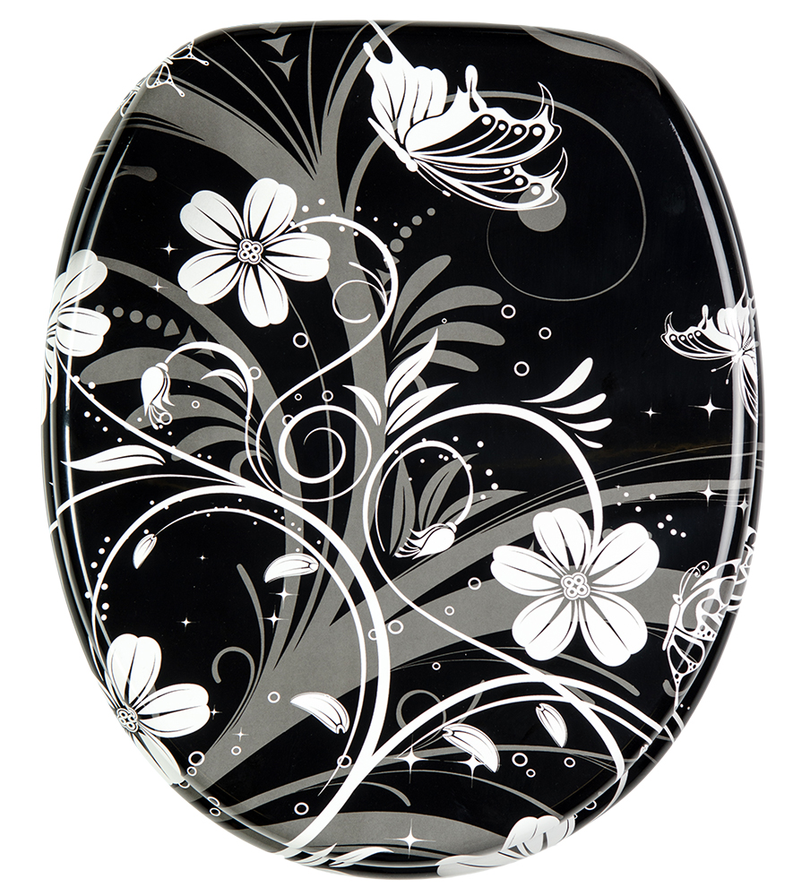 wc sitz white flower. Black Bedroom Furniture Sets. Home Design Ideas