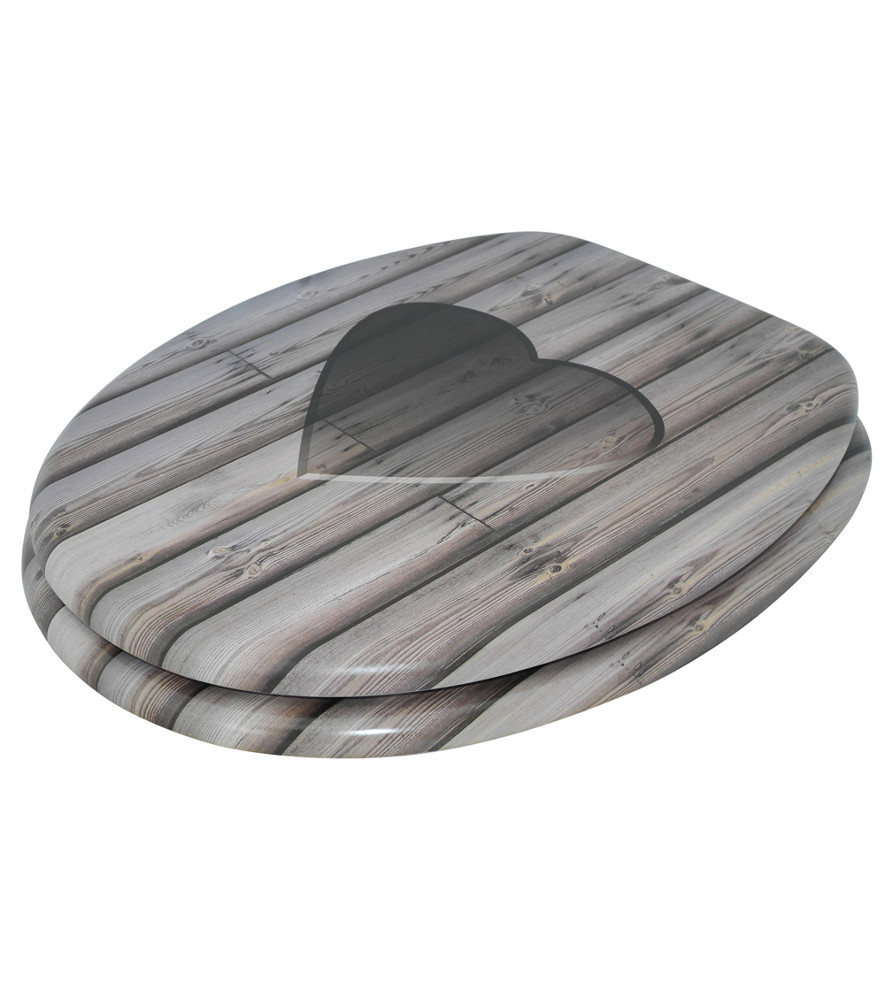 wc sitz mit absenkautomatik wooden heart. Black Bedroom Furniture Sets. Home Design Ideas