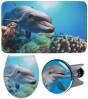 3-teiliges Badezimmer Set Delphin Flat