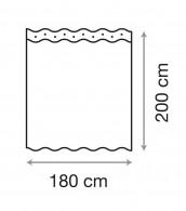 Duschvorhang Zen 180 x 200 cm