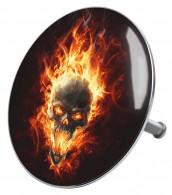Badestöpsel Totenkopf in Flammen