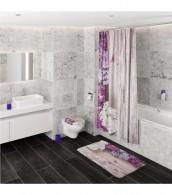 3-teiliges Badezimmer Set Flieder
