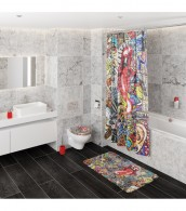 Duschvorhang Graffiti 180 x 200 cm