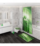 3-teiliges Badezimmer Set Green Leaf