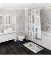 3-teiliges Badezimmer Set Meeresbrise
