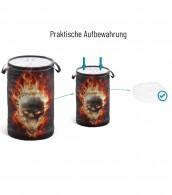 Wäschekorb Totenkopf in Flammen