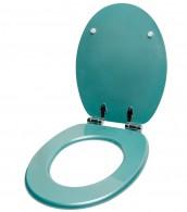 WC-Sitz mit Absenkautomatik Glitzer Türkis