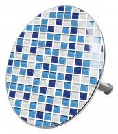 Badestöpsel Mosaik Blau