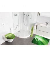 6-teiliges Badezimmer Set Green Leaf