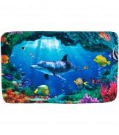 Badteppich Delphin Korallen 70 x 110 cm