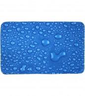 3-teiliges Badezimmer Set Tautropfen Blau