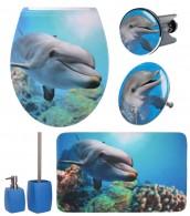 6-teiliges Badezimmer Set Delphin