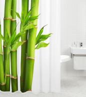 Duschvorhang Bambus 180 x 180 cm