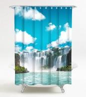 Duschvorhang Wasserfall 180 x 180 cm