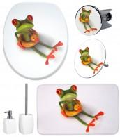 6-teiliges Badezimmer Set Froggy