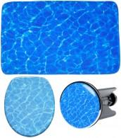 3-teiliges Badezimmer Set Lagune