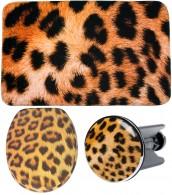 3-teiliges Badezimmer Set Leopardenfell