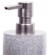 Badezimmer Set Glitzer Silber