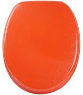 WC-Sitz mit Absenkautomatik Glitzer Orange