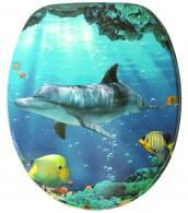 WC-Sitz mit Absenkautomatik Delphin