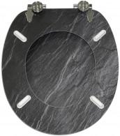 WC-Sitz mit Absenkautomatik Granit
