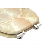 WC-Sitz mit Absenkautomatik Marmor Natur