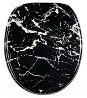 WC-Sitz mit Absenkautomatik Marmor Schwarz