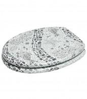 WC-Sitz mit Absenkautomatik Mosaic World Grey