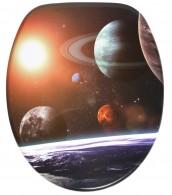 WC-Sitz mit Absenkautomatik Planeten