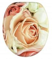 WC-Sitz mit Absenkautomatik Rosa Rose
