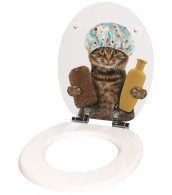 3-teiliges Badezimmer Set Shower Cat