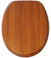 WC-Sitz mit Absenkautomatik Mahagoni