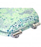 WC-Sitz mit Absenkautomatik Mosaic World Green
