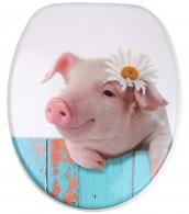 WC-Sitz mit Absenkautomatik Schwein