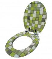 WC-Sitz mit Absenkautomatik Mosaik Grün